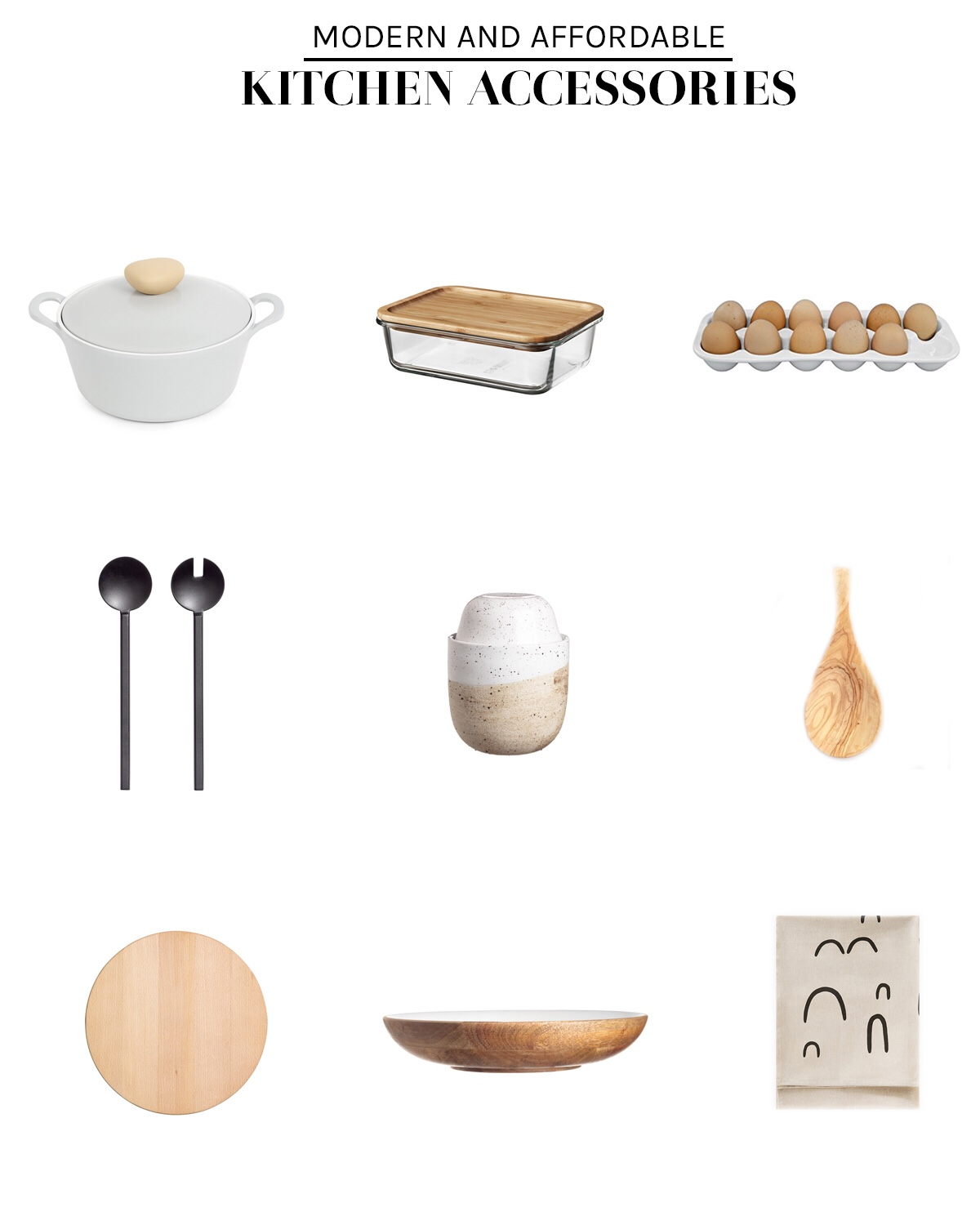 Affordable modern kitchen accessories - The Rucksack Refinery